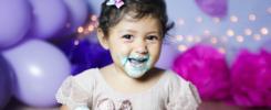 Como é feito o Smash the Cake com bebês