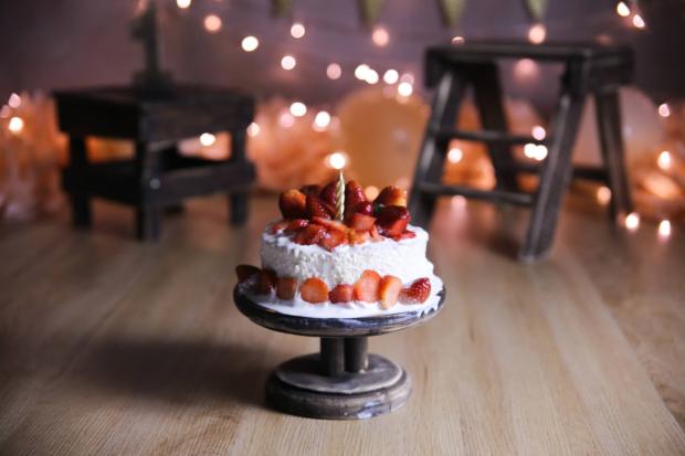 Qual o tamanho do bolo para Smash the Cake