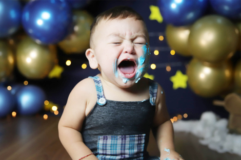Meu filho não come bolo, como fazer uma sessão de Smash the Cake